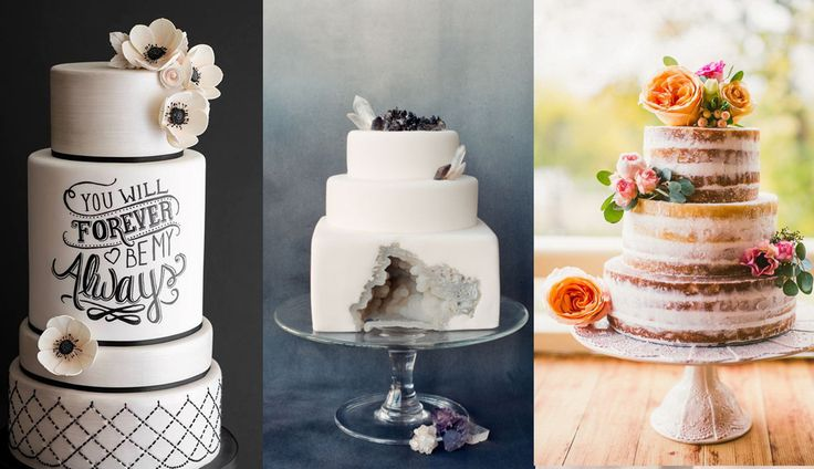 Hottest wedding cakes trends of 2016