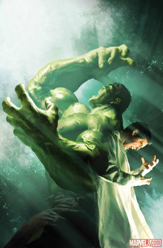 (Incredible Hulk #7.1 Cover by MICHAEL KOMARCK)    There are comic book covers and then there are *COMIC. BOOK. COVERS*  Bruce Banner morphing into The Incredible Hulk makes for one helluva artwork.