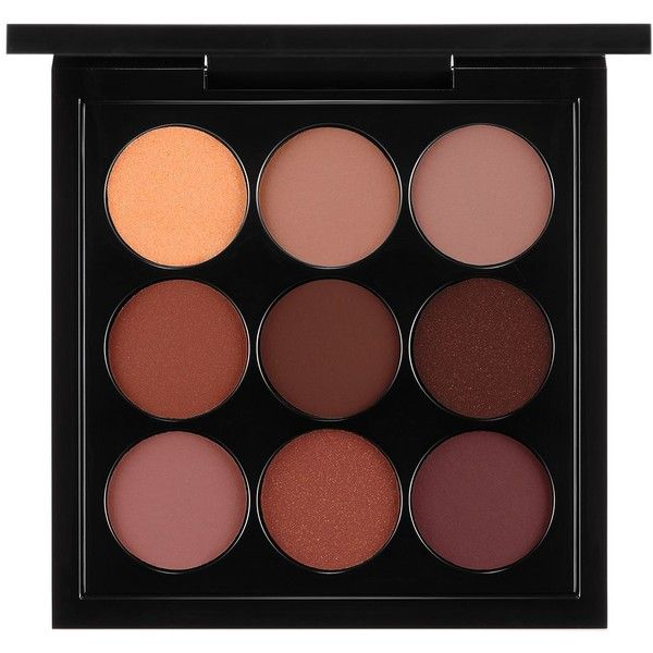 MAC Eyes x 9 Palette, Burgundy found on Polyvore featuring beauty products, makeup, eye makeup, eyeshadow, beauty, cosmetics, fillers, burgandy times nine, mac cosmetics and burgundy eyeshadow
