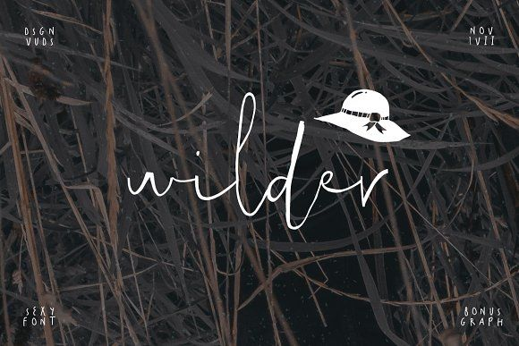 Wilder Font + Graphic by vuuuds on @creativework247