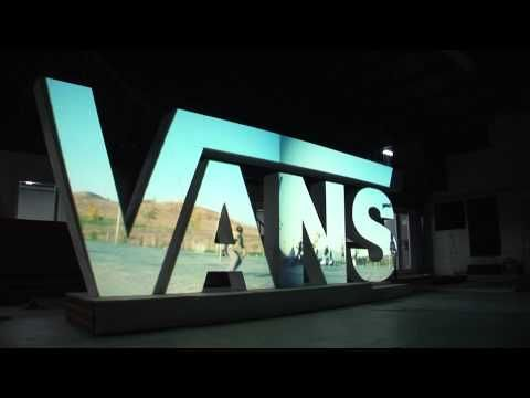 vans video mapping projection on 3d surface skate fire youtube - Video Wall Design
