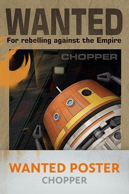 Star Wars Rebels: Chopper Wanted Poster