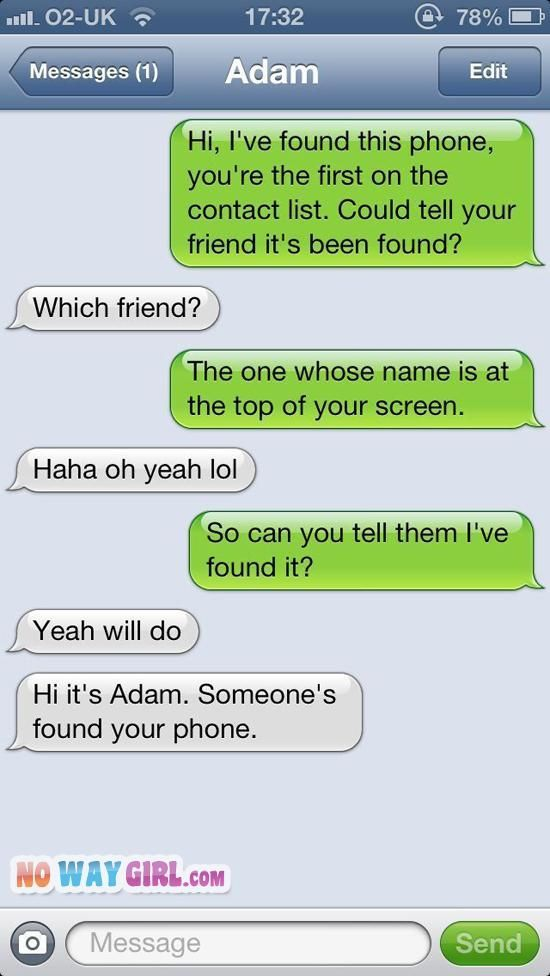 Text Fail: Your Friend Adam Is Not So Smart....I literally just laughed for about 5 minutes over this!