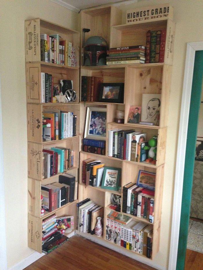les 25 meilleures id es de la cat gorie caisses de pommes sur pinterest vitrines en bois. Black Bedroom Furniture Sets. Home Design Ideas