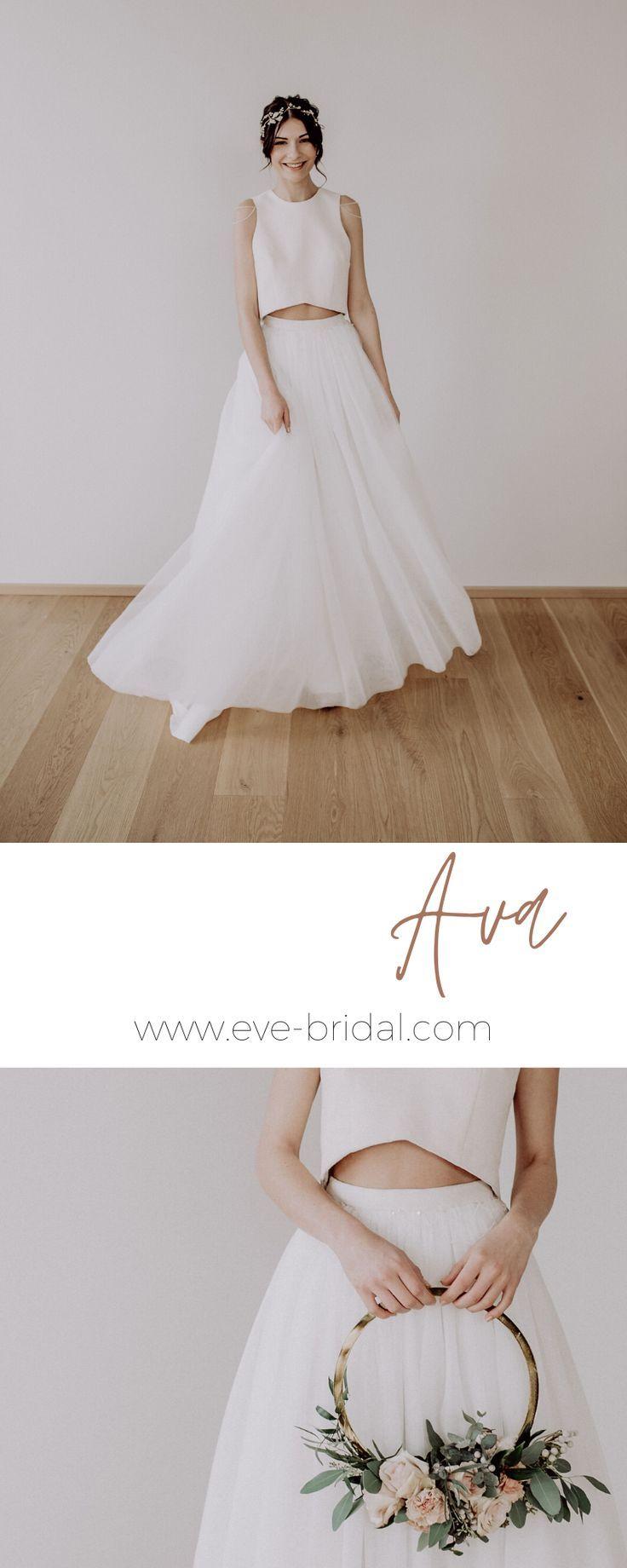 15-teiliges Brautkleid mit Tüllrock und Perlenstickereien, tulle