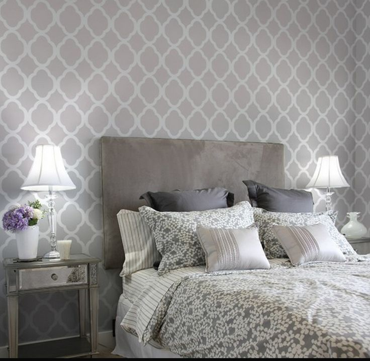 grey on gray bedroom decor