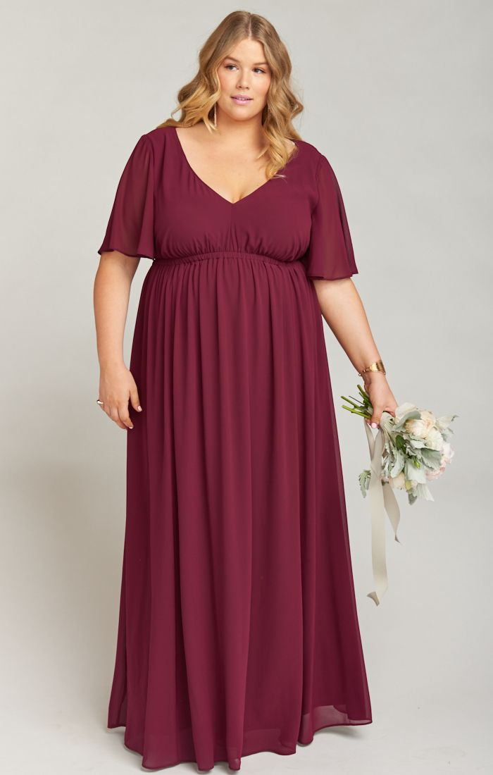 e6126830217a Emily Maxi Dress ~ Merlot Chiffon