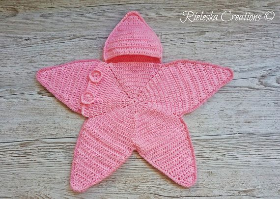 Crochet Pdf Pattern- Star baby bunting-Baby Cocoon Price is for the PATTERN only, not the finished product. Size: 0-3 months Worsted weight yarn, hook size 3,5 mm There is no shipping charge for this item, as it is a PDF file and will be sent almost direct of payment. If you dont receive