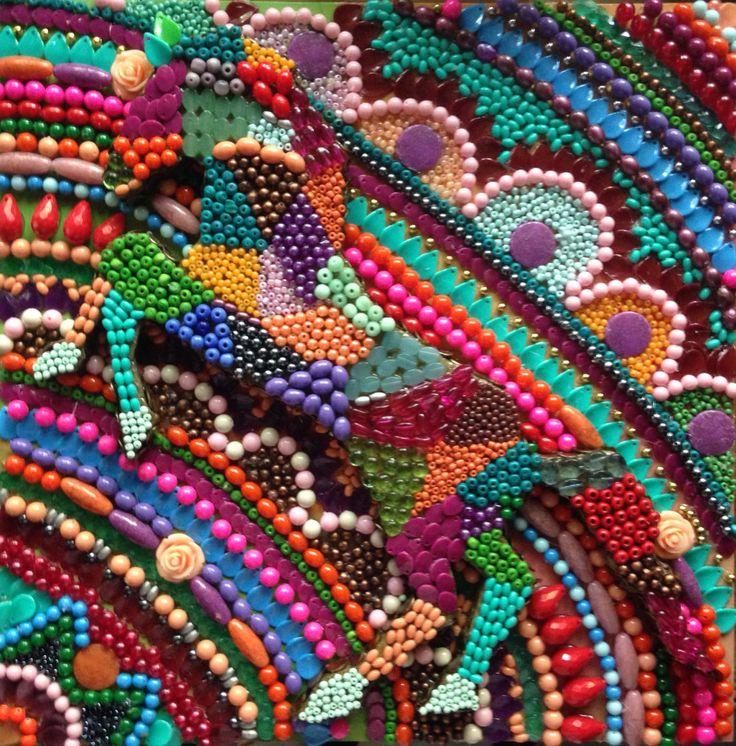 """""""Camuflaje"""" 40X40 (Formato Chico con Relieve) #Mandala #Art #Arte #ByRoxeArt #Color #Camuflaje #Collage #Cuadro #Caballo #Relieve"""