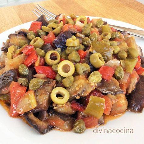 Caponata de berenjenas < Divina Cocina