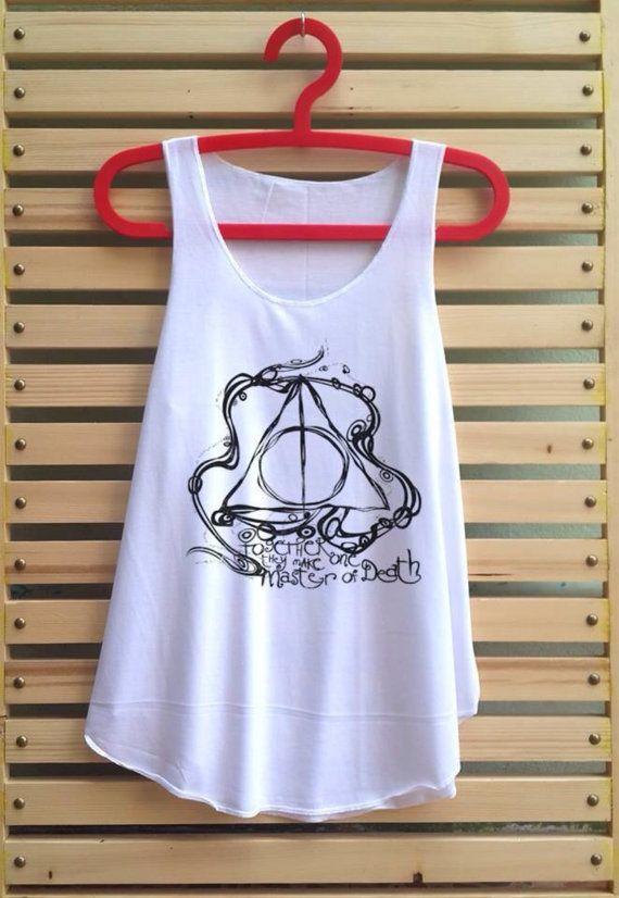 Deathly Hallows art shirt Harry potter shirt tank top door TCFABRIC, $14.99