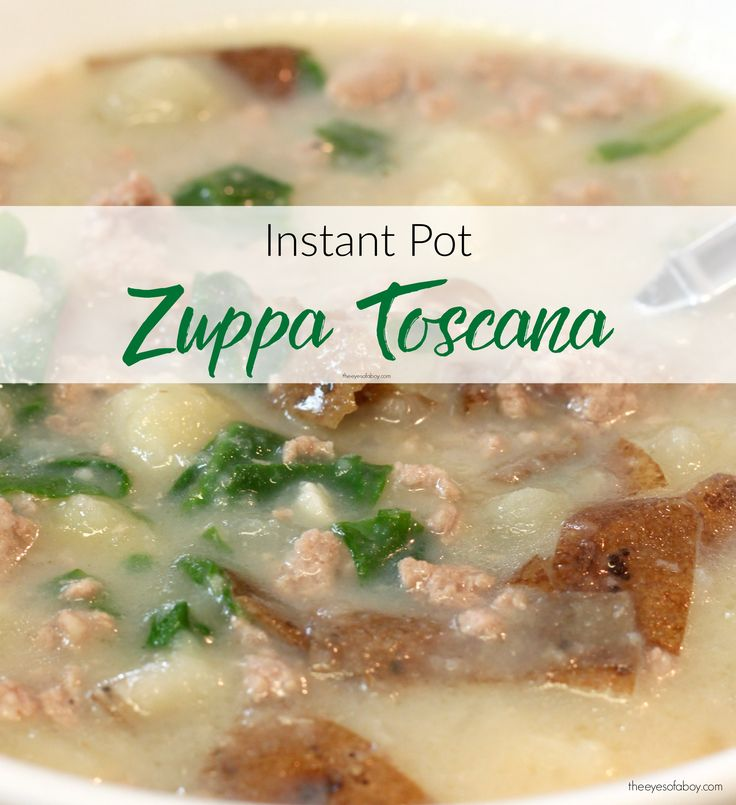 Make this easy Instant Pot Zuppa Toscana recipe. It's a copycat Olive ...