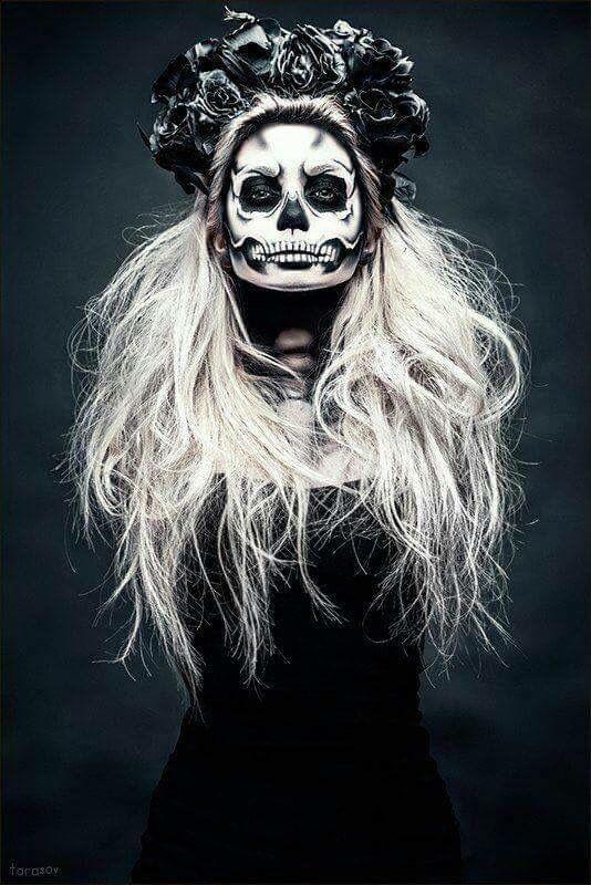 Sugar skull makeup #halloween #makeup