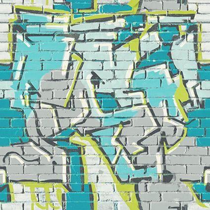 Be You tienerbehang stoer graffiti dessin | Praxis