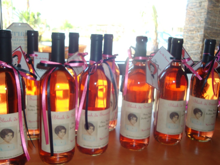 60th birthday party favors made labels using mom 39 s teenage photo and