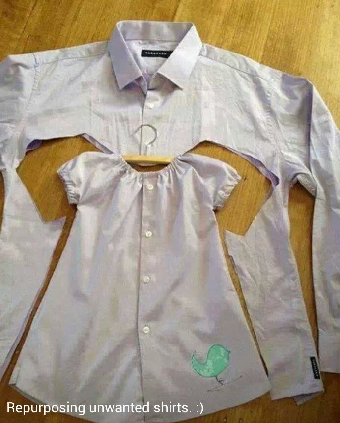 DIY: sew kids clothes, out of your old clothes