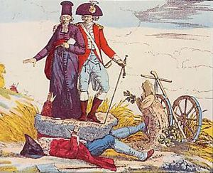 """""""The Third State Crushed By Taxes And Privileges, Caricature.""""• 1789-1799 - La Révolution française - Herodote.net"""