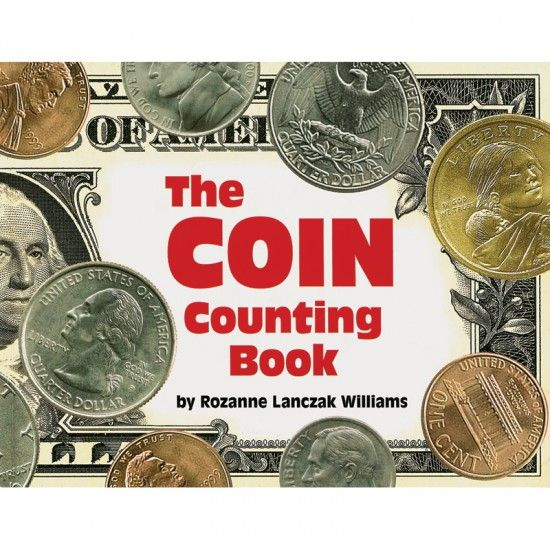 The Coin Counting Book - Rhymes to learn coin equivalents from pennies to dollars.