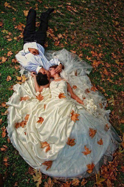 Mooie foto voor een herfst bruiloft