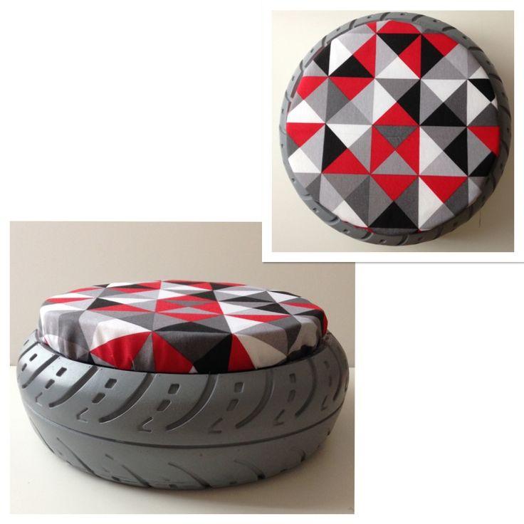 pouf pneu avant de vous en dbarrasser prenez de ce bricolage lequel vous permettra de fabriquer. Black Bedroom Furniture Sets. Home Design Ideas
