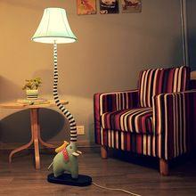 Creatieve cartoon olifant slurf vloer slaapkamer lamp woonkamer lamp kind rustieke doek(China (Mainland))