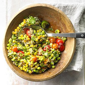 Edamame Quinoa Salad From Better Homes and Gardens, ideas and improvement projects for your home and garden plus recipes and entertaining ideas.