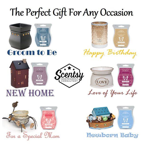 Gift for any occasion www.makesscentswright.scentsy.us www.facebook.com/TiffanyYourScentsyLady