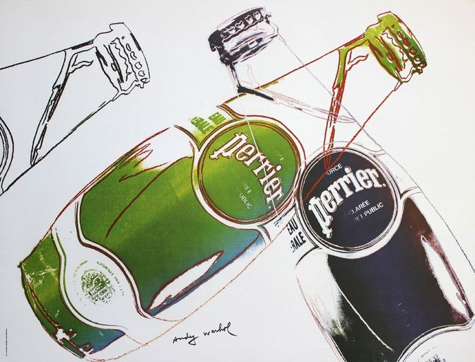 After Andy Warhol, Perrier (White), 1983 on Paddle8