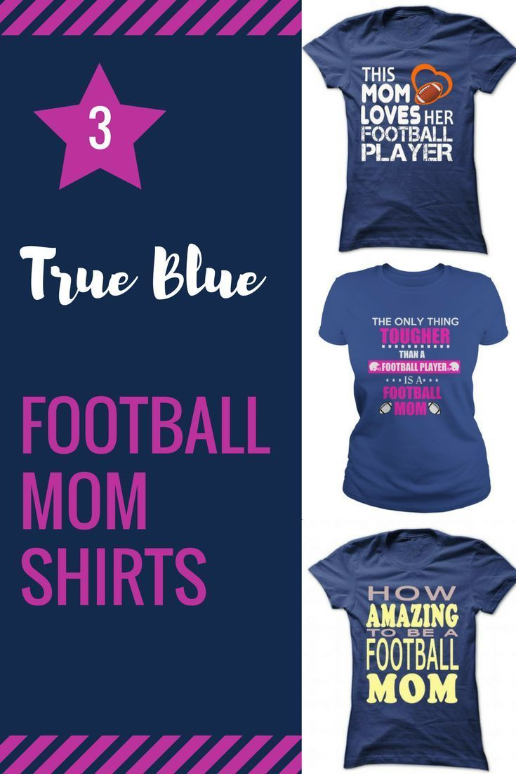 I love these blue football mom shirts!  [affiliate ad]