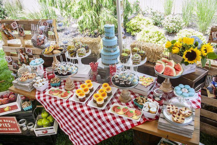 Fair Themed Dessert Table from a Rustic County Fair Birthday Party on Kara's Party Ideas   KarasPartyIdeas.com (8)