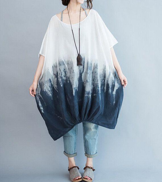 Cotton oversized Loose Fitting short sleeves lantern by MaLieb