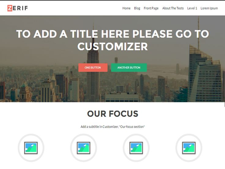 Zerif LITE is a free one page WordPress theme.