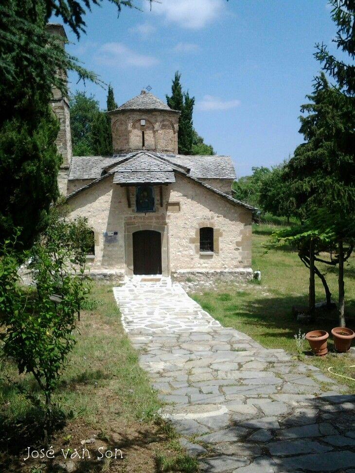Greece... Panagia  Spiliotissa monastery -Spileo village , Grevena