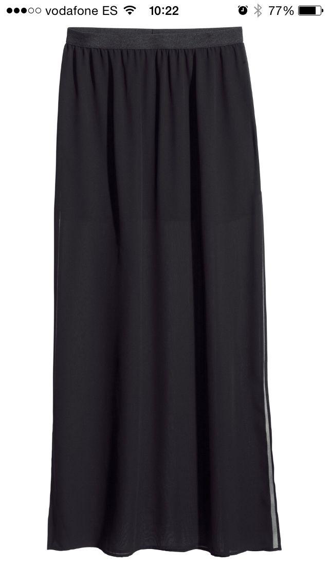 falda larga negra h m mi lista de deseos pinterest. Black Bedroom Furniture Sets. Home Design Ideas
