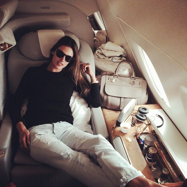 Alessandra Ambrosio's first-class flight, plus more stars' luxury travel photos