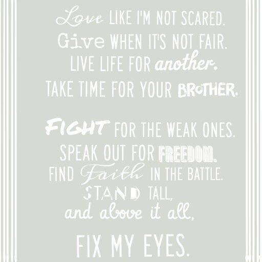 Fix My Eyes~ for King & Country