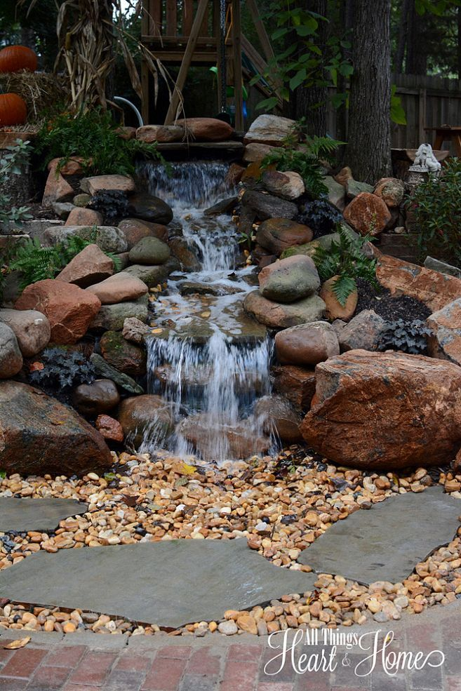1000 images about backyard waterfalls and streams on for Home garden waterfall design