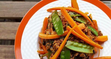 Wortel-spaghetti Bolognese recept