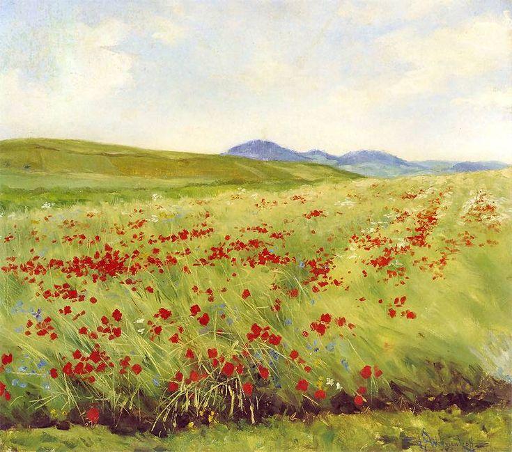 Henryk Weyssenhoff (Polish, 1859-1922) - Field of poppies, 1903-1905