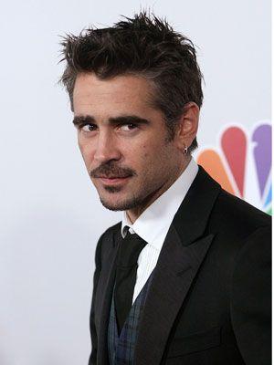 Colin Farrell stache.