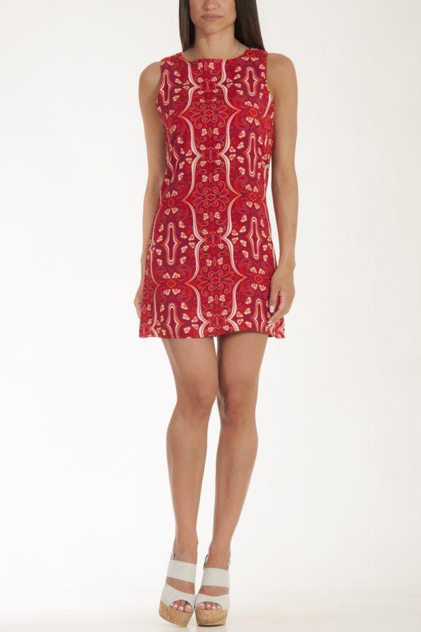 Φόρεμα κοντό ίσια γραμμή λουλούδια γυναικείο glamorous