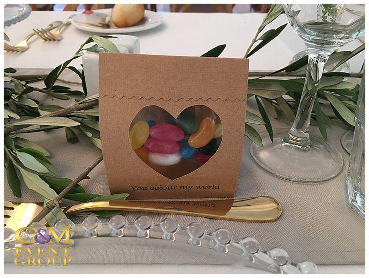 O'Reillys Canungra Valley Vineyards    Wedding Gift Idea    You Colour My World    Jelly Bean #weddinggift #WeddingIdea #countrywedding #guest #gift #vineyardwedding #jellybean