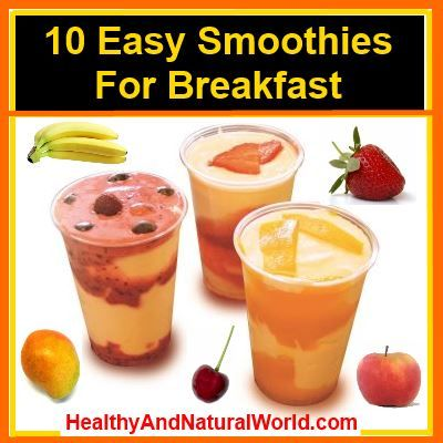 smoothies for breakfast