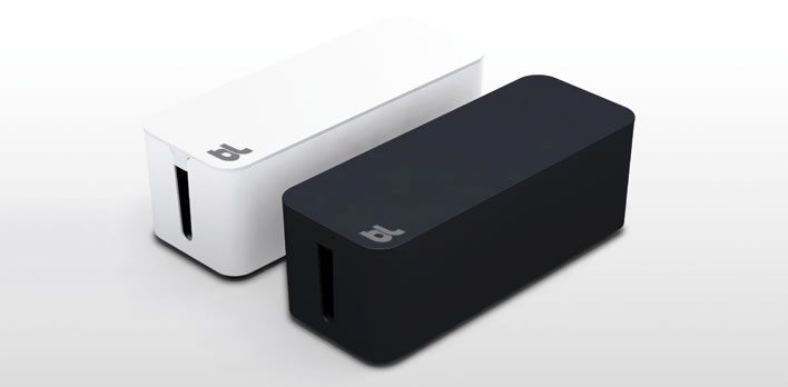 CableBox is the key solution for your cable management needs. Simply place your power strips or surge protector inside CableBox. No need to unplug anything first. Then stow away the surplus cable lengths, close the lid and done. $29.95