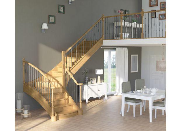 Escalier Chambord chêne et hêtre - Escaliers