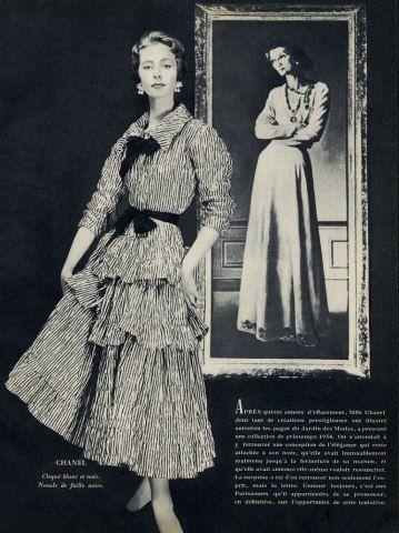 chanel 1954 fashion photography gabrielle coco chanel