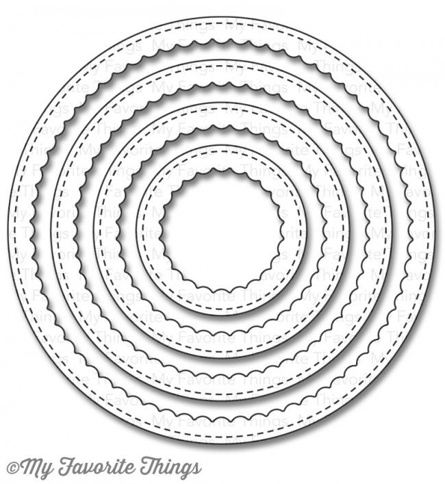 Stitched Circle Scallop Frames Dienamics