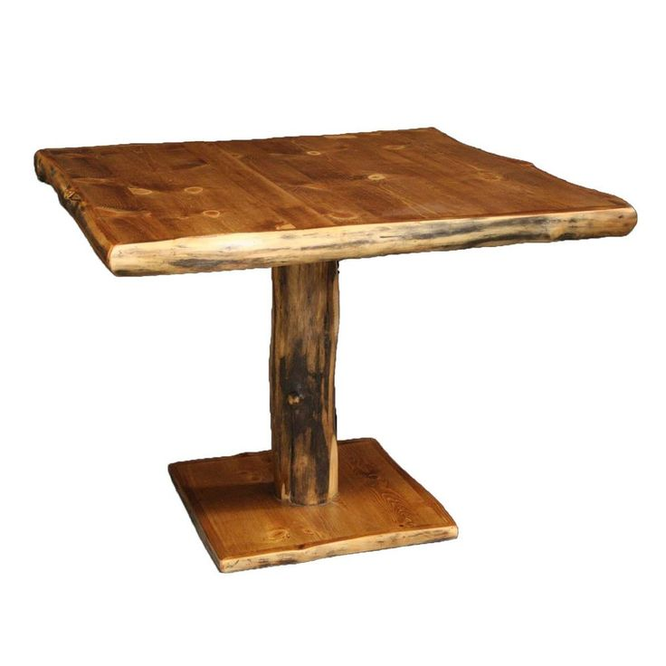 Log Pedestal Table - Country Western Rustic Cabin Wood Kitchen Furniture Decor #Handmade #Country
