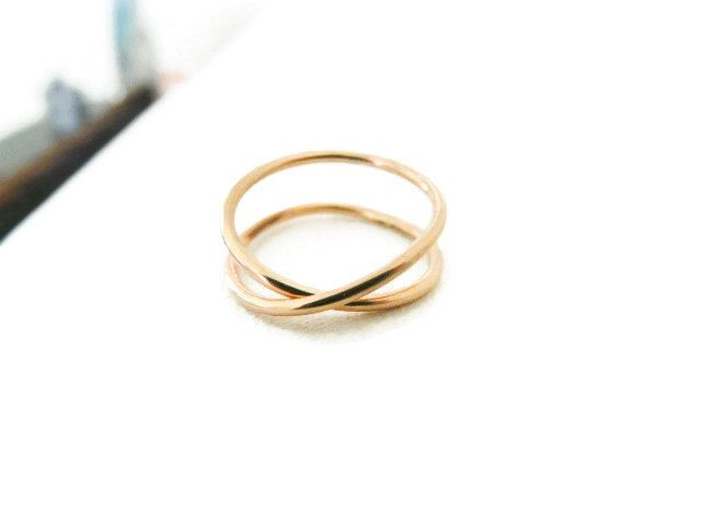 Criss Cross Gold Filled Ring Index Finger Mid Finger Women Ring Handmade Jewelry For Her by RossanaJewelryDesign on Etsy https://www.etsy.com/listing/251458464/criss-cross-gold-filled-ring-index