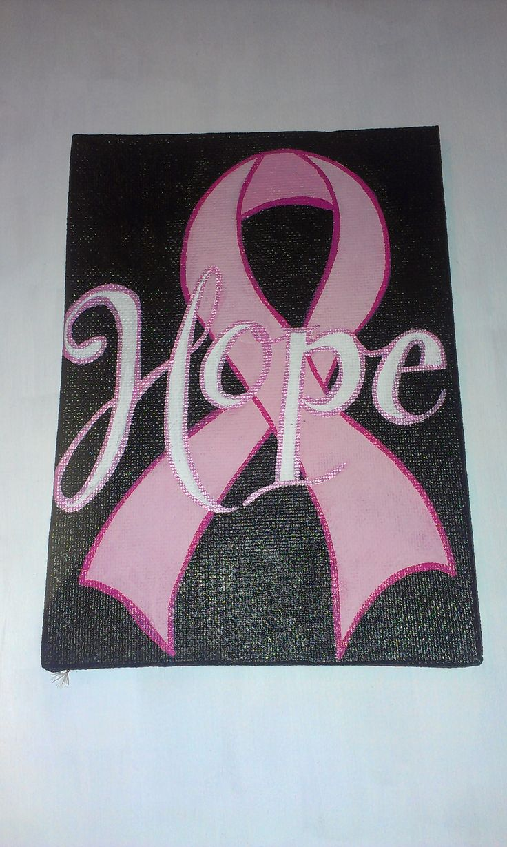 5 x 7 breast cancer awareness canvas $10.00
